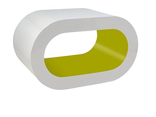 Zespoke Design Blanc et Vert Brillant Tableau Cerceau de Café TV/Meuble en Différentes Tailles