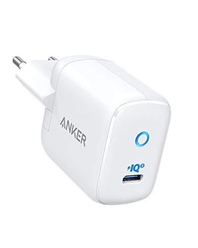 Anker Cargador USB C PowerPort III Mini 30 W Power IQ 3.0 Compacto Power Delivery Tipo C Cargador para iPhone 11/11 Pro/11 Pro MAX/XR/XS/X/8, iPad Pro, MacBook, Galaxy S10/9, Pixel, Mate 20 Pro, etc.