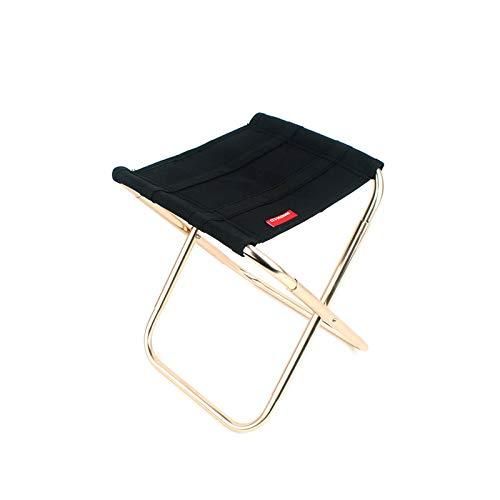 YuuHeeER Silla plegable portátil de aluminio para camping, silla de viaje al aire libre, silla plegable de pesca, taburete de asiento 1 pieza
