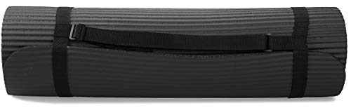 "BalanceFrom GoYoga 7-Piece Set - Include Yoga Mat with Carrying Strap, 2 Yoga Blocks, Yoga Mat Towel, Yoga Hand Towel, Yoga Strap and Yoga Knee Pad (Black, 1/2""-Thick Mat)"