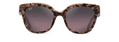 Maui Jim Women's Honey Girl Cat-Eye Sunglasses, Blush Pink/Maui Rose Polarized, Medium