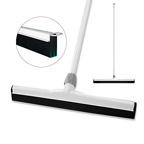 BOOMJOY Floor Squeegee with Long Handle (48'), Wide Wiper Blade (21') for Deck, Bathroom, Shower,Concrete Floor