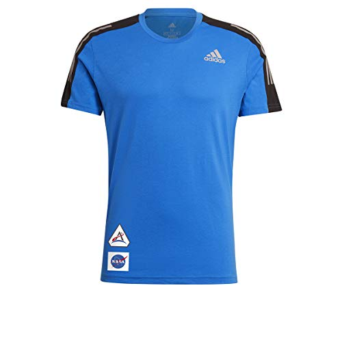 adidas Space Tee M T-Shirt, Football Blue, M Uomo