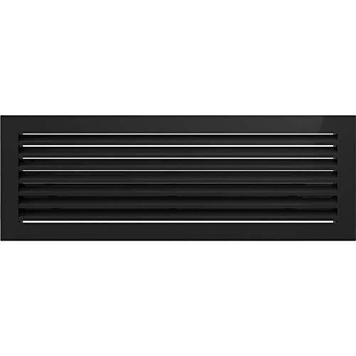 Kratki rejilla de ventilación Chimenea rejilla Fresh 17cm x 49cm Color Negro