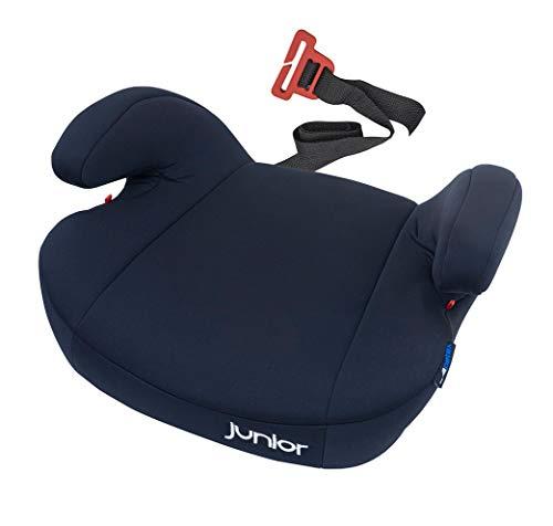 Petex - Rialzo per seggiolino auto Maja con sistema di fissaggio ISOFIX, gruppo 3, bambini di circa 7-12 anni, 22-36 kg, nero