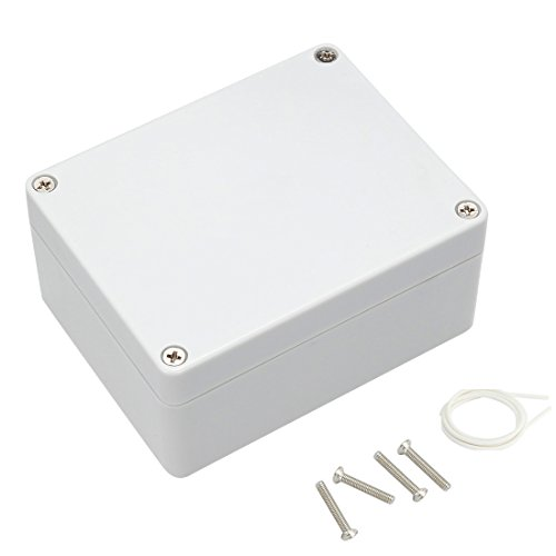 Awclub Waterproof Dustproof IP65 ABS Plastic Junction Box Outdoor Universal Electric Project Enclosure Gray 4.52 x3.54 x2.16 (115mmx90mmx55mm)