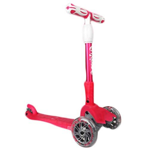 Scooter para niños Scooters para niños - Scooter de 3 ruedas para niños y niñas - niños pequeños y juguetes para niños para 3 años de edad y arriba - tres alturas y llantas de iluminación Scooter para