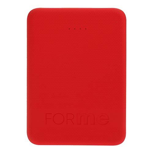 MOBO Batería Portatil For Me 5000 mAh 2.1A/5V hasta 2 Cargas Extra (Rojo)