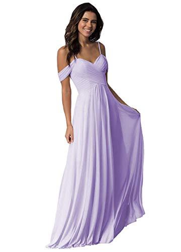 Elleybuy Sweetheart Neckline Bridesmaid Dresses,Off Shoulder Fromal Dress for Women Lilac
