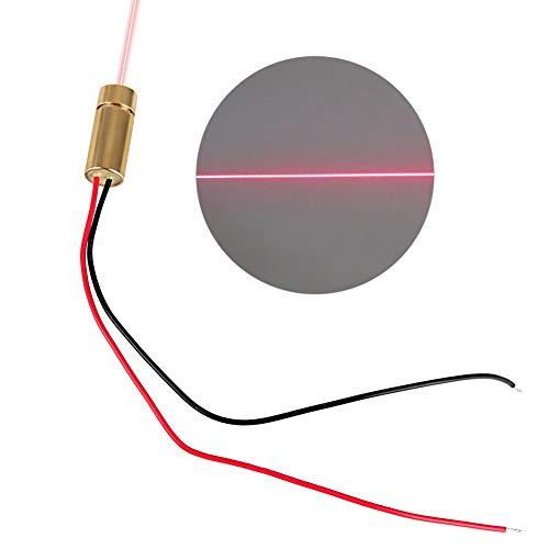 Fokussierbares Lasermodul, 2,8-5V |650nm |5mW |9 * 23mm Diodenmodul Red Dot Laserkopf Messwerkzeug (Linie)