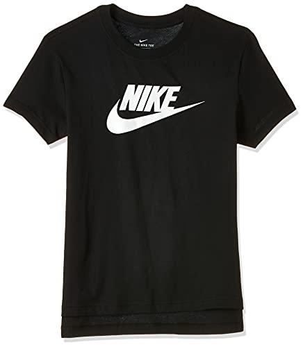 Nike Mädchen Sportswear Basic Futura T-Shirt, Black/White, L