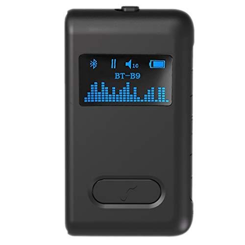 Adaptador de Audio inalámbrico, Receptor Bluetooth 5.0 Bluetooth, diseño de Abrazadera Trasera para teléfono con computadora de automóvil