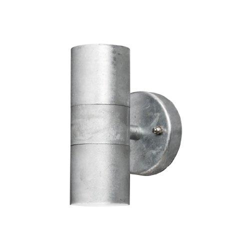 Gnosjö Konstsmide Modena wandlamp buitenlamp, staal, GU10, gegalvaniseerd grijs, 6 x 9 x 17 cm