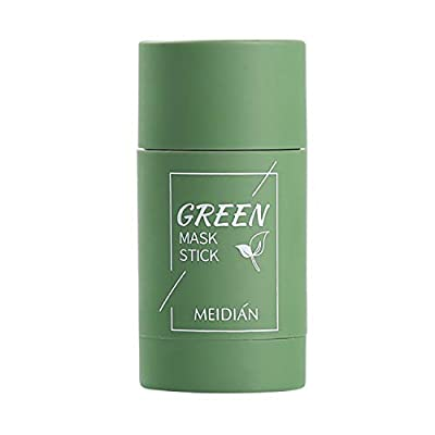 Green Tea Purifying Clay Stick Mask, Oil Control Anti-Acne Eggplant Solid Fine (Green Tea) by Adamy