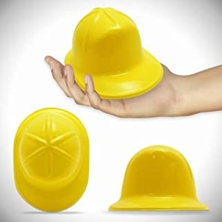 Yellow Plastic Mini Construction Hats 12 Pack