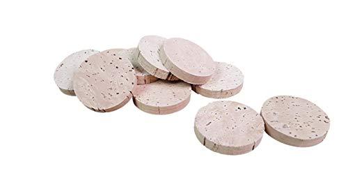 Korkscheiben | Scheiben aus Kork | Plättchen aus Kork | 35 mm x 6 mm | 20er Pack | Basteln & Dekorieren | Bastelmaterial aus Kork | 100% Naturkork