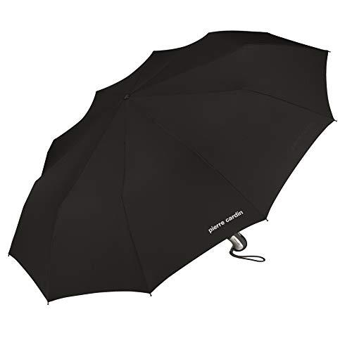 pierre cardin Regenschirm Taschenschirm mit Automatik 10-teiliges Dach Tecmatic Noire schwarz