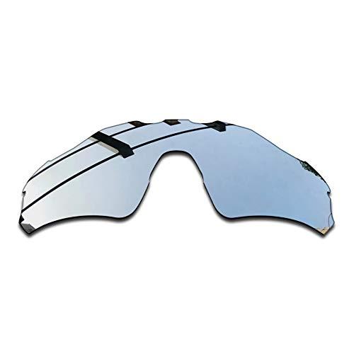 SEEABLE Premium Polarized Mirror Replacement Lenses for Oakley Radar EV Path OO9208 Sunglasses - Silver Mirror