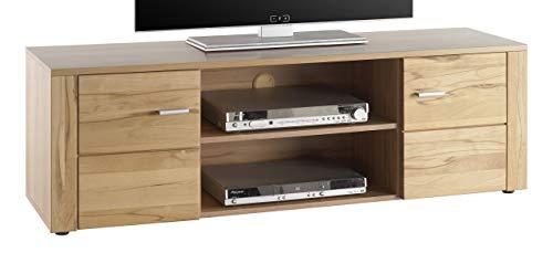 Stella Trading Donau TV Lowboard, Holz, kernbuche, 140 x 38 x 44 cm