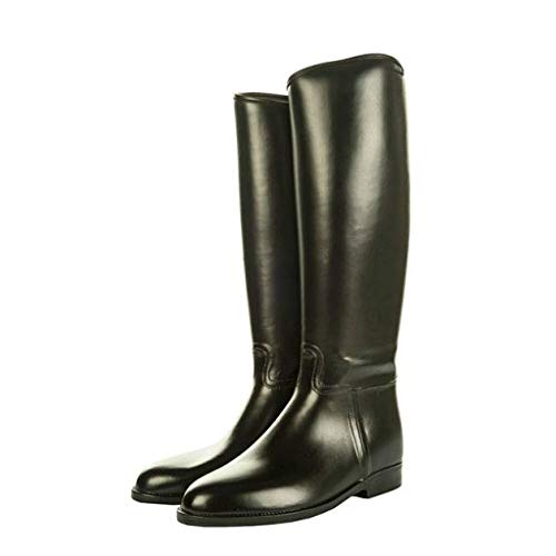 Hkm–Botas de equitación estándar con elástico, Todo el año, Hombre, Color Negro - Negro, tamaño 47 EU