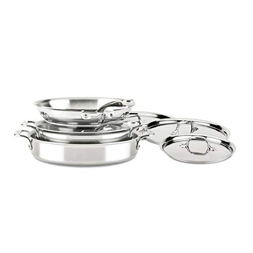 All-Clad ST40007 D3 Compact Stainless Steel Dishwasher Safe Cookware Set