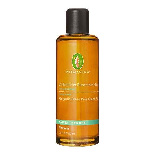 PRIMAVERA Aroma Sauna Zirbelkiefer Riesentanne bio 100 ml - Saunaöl, Aromatherapie - kräftig-würziges- Nadelholzaromastärkend, klärend - vegan