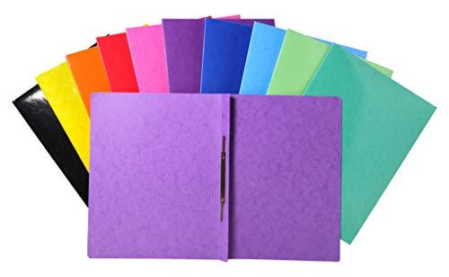 Exacompta 380800B Schnellhefter (Iderama, beschichteter Premium-Manila-Karton, wasserabweisend, 355g, A4+, 24 x 32 cm) 25 Stück zufällige farben