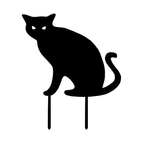 Xinjiashou Garden Cat Stakes,Acrylic Cat Statue Stakes for Yard and Garden Decor, Fashionable Exquisite Black Cat Silhouette Stake,Outdoor Animal Stakes for Lawn Ornaments