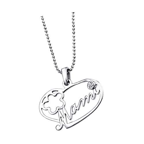 Lotus Collar de plata de ley 925 LP1240-1/1 con forma de corazón Mami D3JLP1240-1-1, joya para el cuello para la mujer