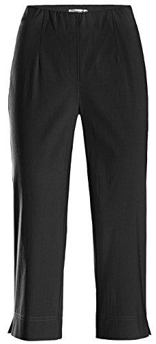 Stehmann Ina-530, Bequeme, stretchige Caprihose Farbe schwarz, Größe 42