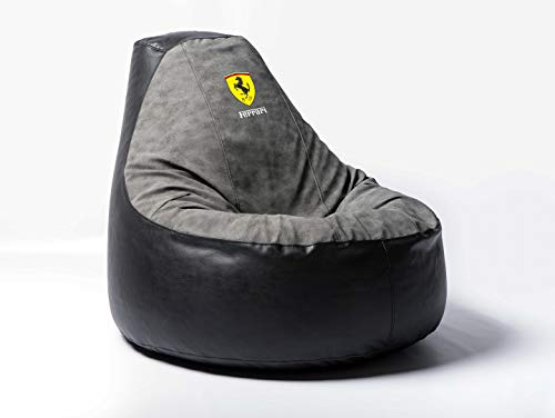 Ferrari Supercar Comfortable Kids Adult Game Outdoor Indoor Lounge Chair Beanbag Cover (Without Beans) Grey Alcantara