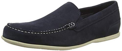 Rockport Malcom Venetian Loafer, Mocasines para Hombre, Azul Nuevo Vestido Blues SDE 002, 46 EU