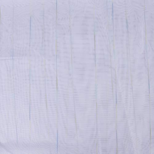 Mooi leven. Gordijnstof Stores webstrepen kleurverloop transparant met loodband wit blauw groen 260 hoog