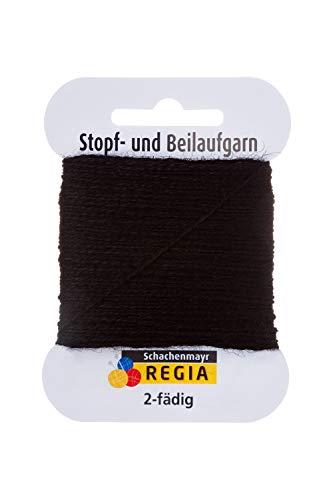 Regia Handstrickgarne Schachenmayr 2-fädig Uni, 5g Schwarz