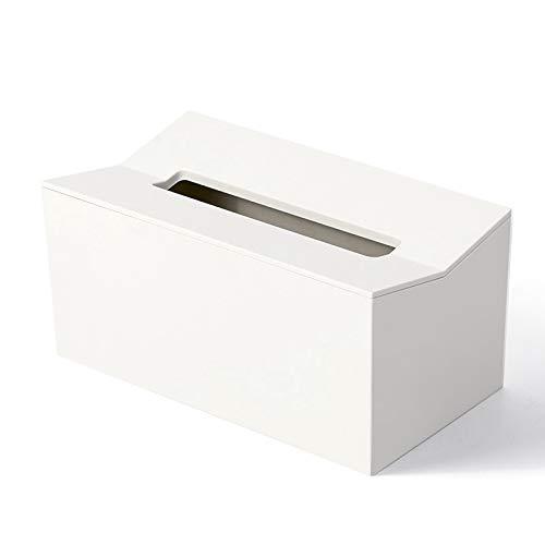 YLLAND Caja de pañuelos de cocina para servilletas de papel, dispensador de pañuelos, contenedor montado en la pared para toallitas (color: blanco) LNNDE (color: blanco)