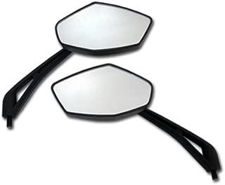 Black Diamond Motorcycle Mirrors for Honda Shadow