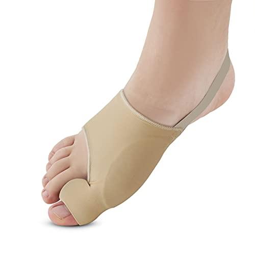 Bunion Corrector, Orthopedic Bunion Splint, Big Toe Separator Pain Relief, Non-Surgical Hallux Valgus Correction, Big Toe Straightener Pain Relief for Women & Men, Day Night Support (Beige)