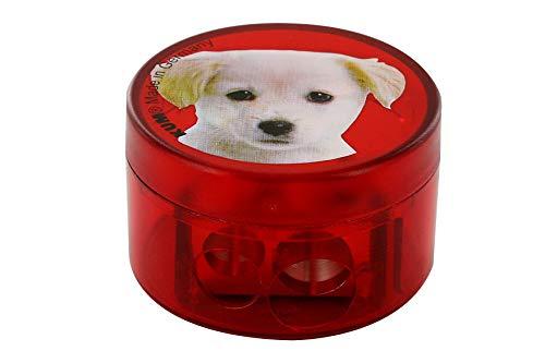 KUM AZ341.03.19-H - Doppel-Behälterspitzer, 208M2, aus Magnesium, Motiv Hund, 1 Stück