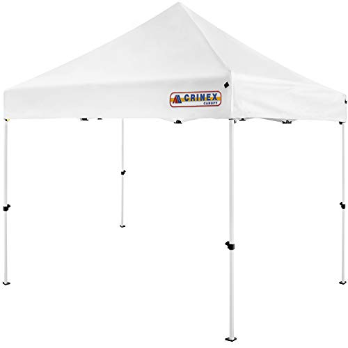 CRINEX 10x10 Canopy Tent White, Pop Up Portable Shade Instant Folding...