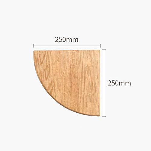 Drijvende Planken, Houten Decoratief, Drijvende Plank Slaapkamer Woonkamer, Home Decor Plant Plank Foto Richel, Drijvende Opslag Plank,Waaiervormig Hoekrek-Houtkleur 250 * 250 * 35 Mm