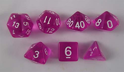 Würfel Stube transparent pink Set