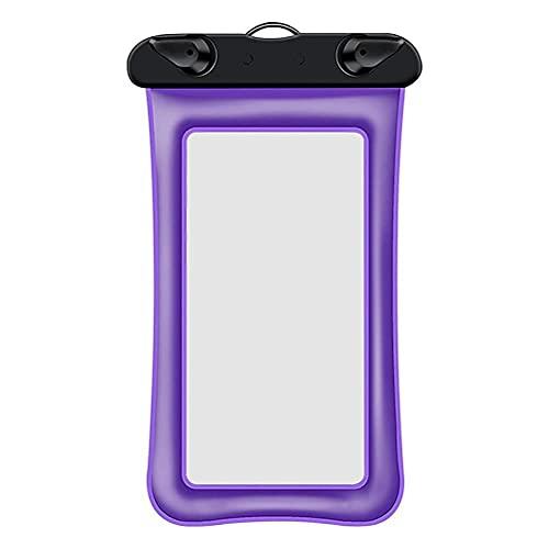 Auplew Funda impermeable para teléfono móvil con correa para el cuello para smartphones de hasta 6 pulgadas, protección para deportes acuáticos, playa, natación, barco