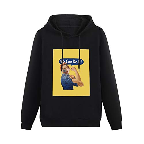 We Can Do It! Rosie The Riveter Coronavirus 2020 Apron All-Match Hoodie boy Style Pullover