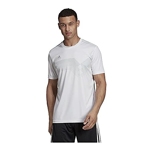 adidas Campeon 19 Jersey-Men's Soccer S White/Clear Grey
