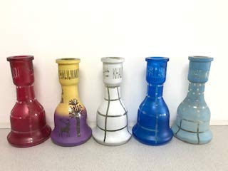 Khalil Mamoon KM Shisha Wasserpfeife Cafe Ersatz Basis Vase Flasche Glas
