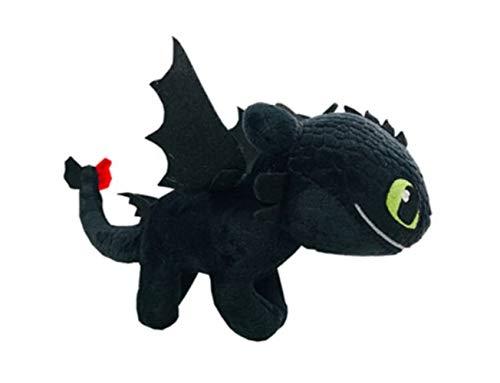 HTTYD 2 Figura Peluche Dragon DESDENTADO Furia Nocturna DESDENTAO como Entrenar A TU Dragon Pelicula Animacion Original 26cm Negro
