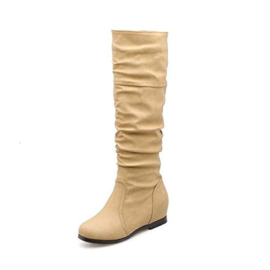 [AHZHDXZM] レディーススティレットビッグスモールサイズ28-52シューズレディースブーツ冬春秋快適カジュアル12アプリコット毛皮なし女性用ハイヒールヒール