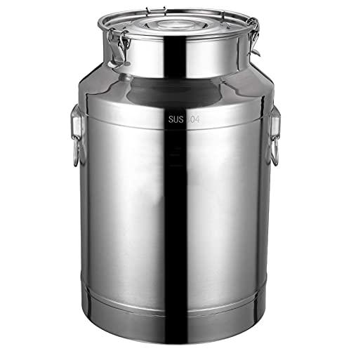 Xkun Cubo de tambor de leche de acero inoxidable Té puede fermentar el cubo del almacenamiento del vino