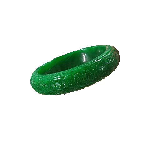 ZHIBO Myanmar Un bienes flotador flor jadeita pulsera llena de color emperador verde seco azul hierro dragón nacido dinero tallado pulsera de jade