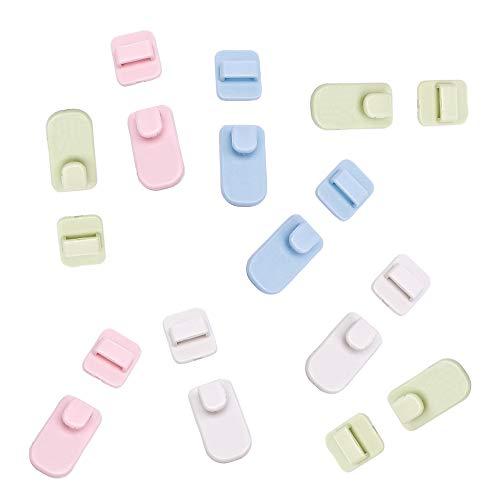 inherited 10 Pares Soporte para Mando a Distancia de ABS, Organizadores TV De Remoto Soporte De Pared Ganchos Adhesivos para mandos a Distancia de la TV o el Aire Acondicionado(Color Aleatorio)